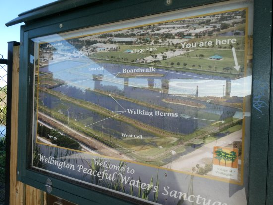 Peaceful Waters Sanctuary: Map at the entrance