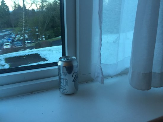 Slaley Hall: can of Coke from previous guest
