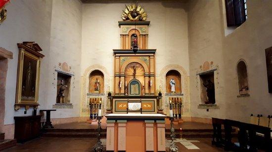 Mission San Diego de Alcala: Inside.