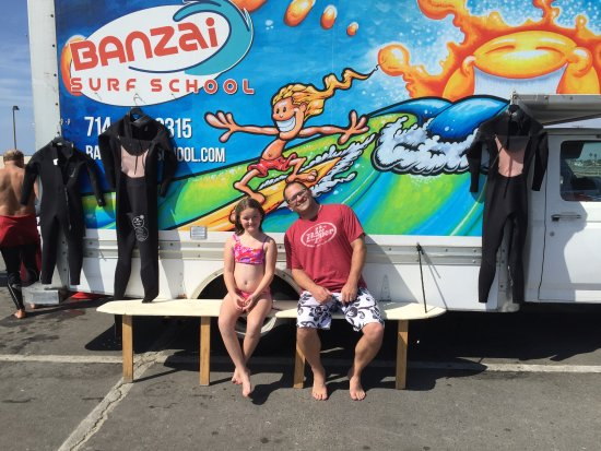 Banzai Surf School: Hanging out before the lesson