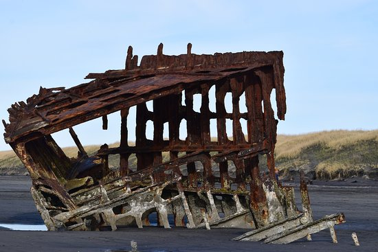 Warrenton, OR: What is left of the ship wreck.