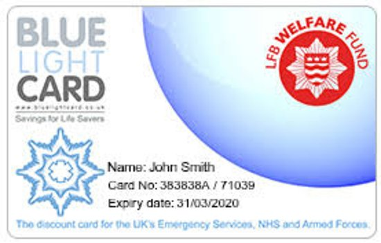 Oldbury, UK: We accept Bluelight cards 20% off your bill as our way of saying thank you