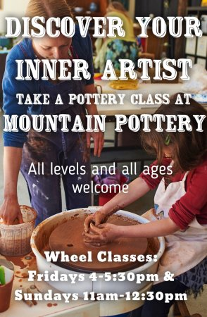 Idyllwild, CA: We teach pottery lessons to all ages!