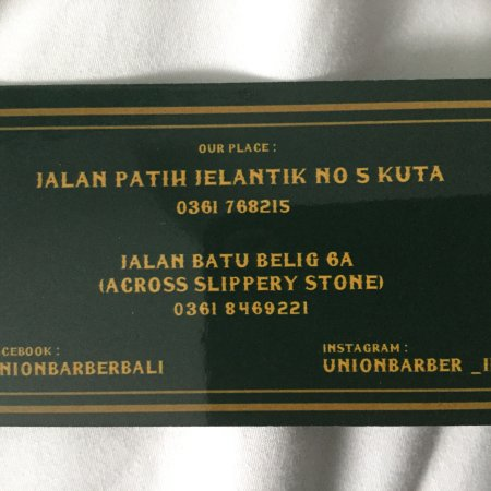 Union Barber Legian