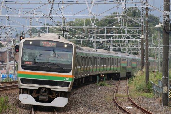 Kanto, Japan: 首都圏ではおなじみの普通列車。2階建てグリーン車も連結