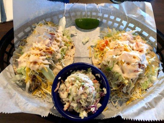 Killer seafood mexico beach menu prices restaurant for Tuna fish tacos