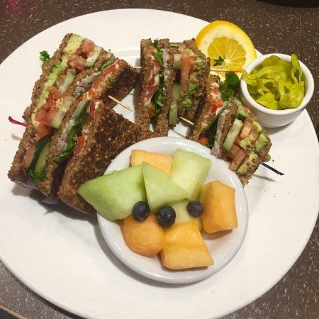 Cedars Cafe: Vegan club sandwich