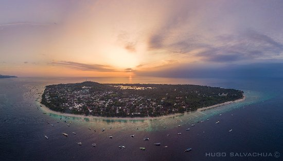 Gili Trawangan, Indonezja: Our little paradise at sunset