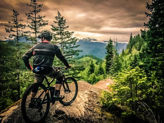 Garibaldi Highlands, كندا: Guided Mountain Bike Ride