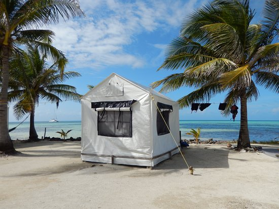 Glovers Reef Atoll, Belice: Our tent!