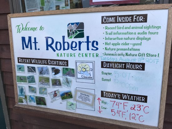 Goldbelt Mount Roberts Tramway : Nature Center information board