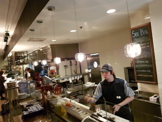 Headwaters At The Heathman: View Of The Fish Bar   Open Kitchen Concept