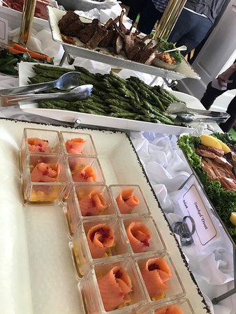 The Grand Hotel Luncheon Buffet : Smoked Salmon and Lamb Chops
