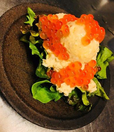 potato salad with salmon roe picture of tairyou shokudo hero umi rh tripadvisor com
