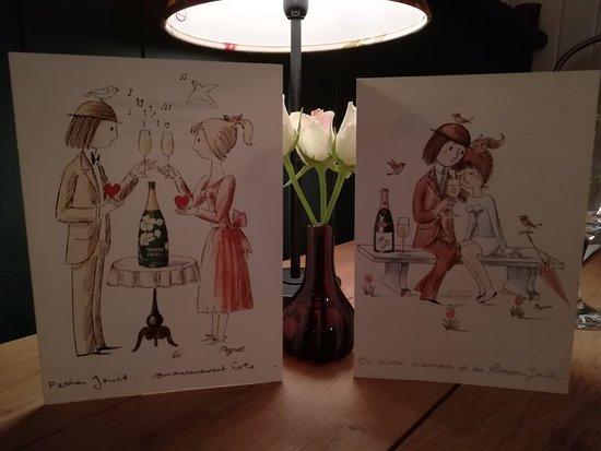 Mauzens-et-Miremont, France: Menu st Valentin