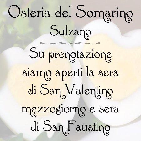 Sulzano, Italien: Aperti su prenotazione per cena il 14/2, pranzo e cena il 15/2