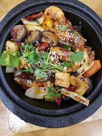 Lomita, Καλιφόρνια: dry pot spicy shrimp, 5 out of 10