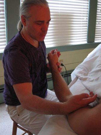 Hand in Hand Massage: Working on an arm injury