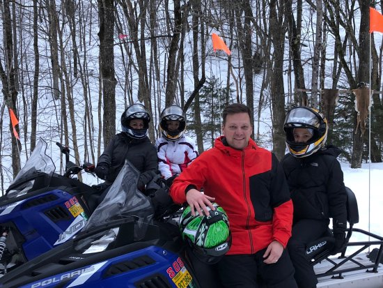 Plymouth, VT: Break time on the trail! Thank you Snowmobile Vermont - Killington!
