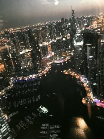 Dubai Marriott Harbour Hotel & Suites: View of the Marina from the Hotel