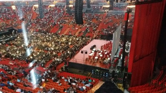 view from front row 306 bocelli picture of american airlines arena rh tripadvisor com
