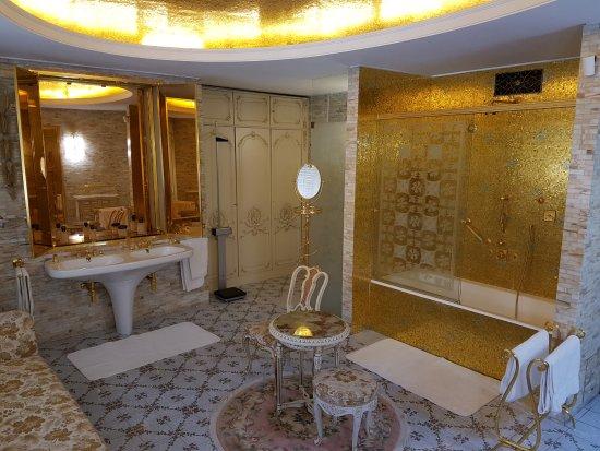 Gouden badkamer van het echtpaar - Picture of Ceausescu Mansion ...