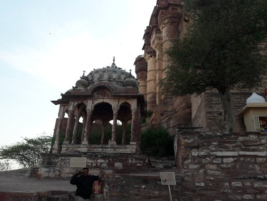 Jodhpur District, Indien: Outer circle of Mehrangarh fort Jodhpur