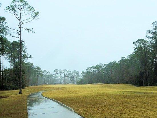Osprey Cove Golf Club: teeing off in the rain