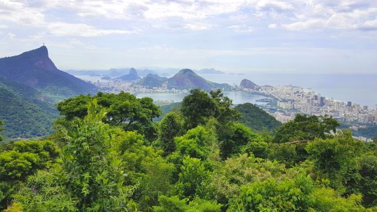 Rafael Torres Lopes Tour Guide: Gorgeous View of Sugar Loaf and Statue of Christ from National Forest from Vista of Chinesa
