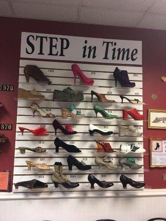Geneva Lake Museum of History : Part of the Shoe Exhibit.