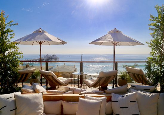 The Surfrider Malibu: Rooftop Deck - never wanted to leave!