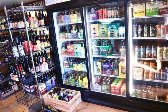 Manchester, ME: You can always discover hard-to-find favorites or new brews in our craft beer cooler!