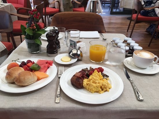Complementary Buffet Breakfast Picture Of Hotel Eden Rome