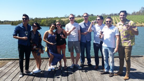 Margaret River Region, Australia: Happy group  tasting delicious Margaret River Wines