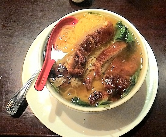 Willimantic, CT: Duck soup! One of their excellent soups.
