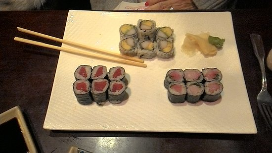 "Willimantic, CT: The ""Maki A"" Sushi Dish - a favorite"