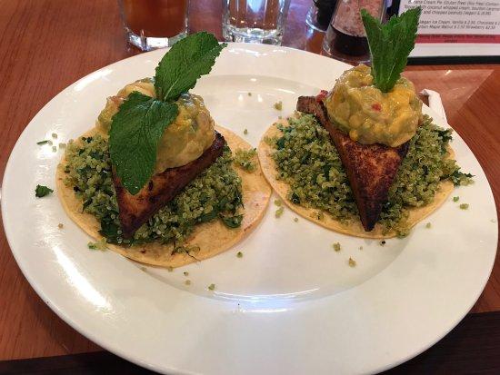 Framingham, MA: Chile marinated tofu tacos