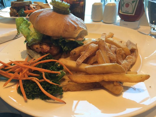 Surrey, Canada: Burger and fries