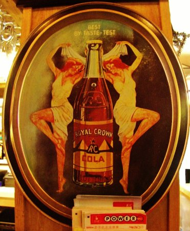 Boring, OR: RC Cola serving tray on wall by bar