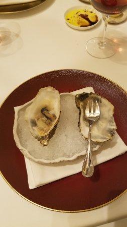 Oyster with ginger vinaigrette