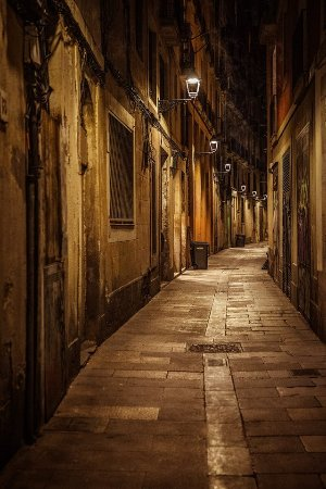 Barcelona Photowalk: Night street - recommended by Stefano as a great spot for a nightshoot