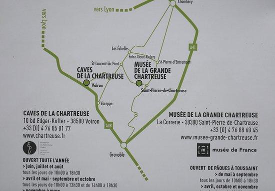 Musée de la Grande Chartreuse : Le plan