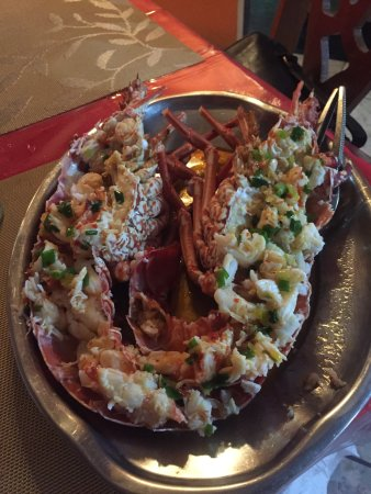 Speyside, Τομπάγκο: Best lobster ever - couldn't wait, so I had some before taking photo