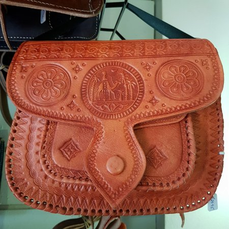 Amber Handmade Leather Bags From Morocco