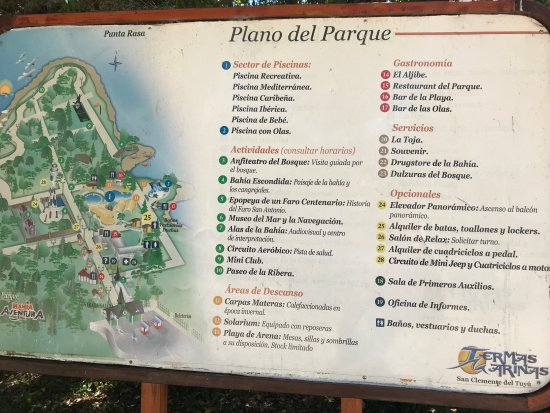 Termas Marinas: Planos del Parque