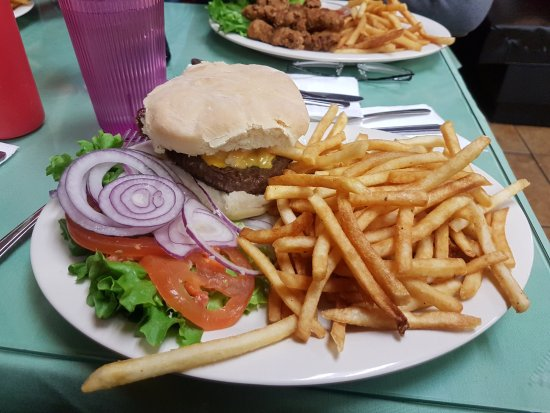 Cascade, ID: burger and fries