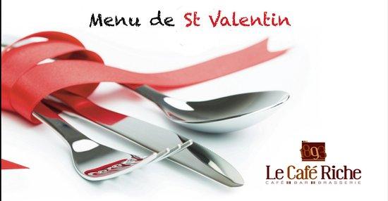 Pensez à venir déguster notre menu Saint Valentin aujourd'hui ....😍😍