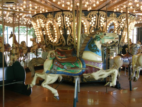 Salisbury, NC: The Hayden carousel is only one of the old-fashioned rides found at Dan Nicholas Park.