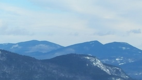 Bartlett, NH: View along the snowmobiling trail