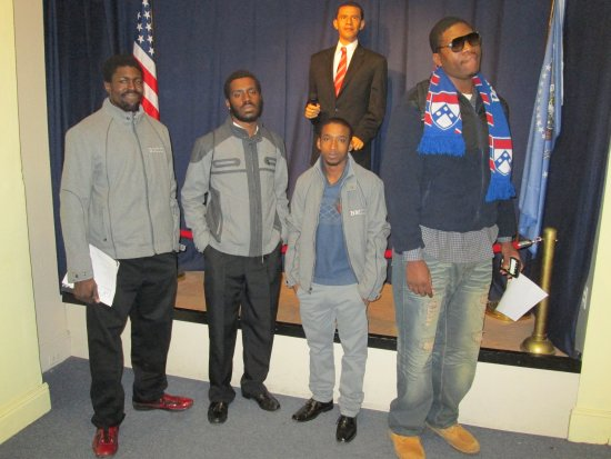 President Barack Obama Exhibit Picture Of Great Blacks In Wax